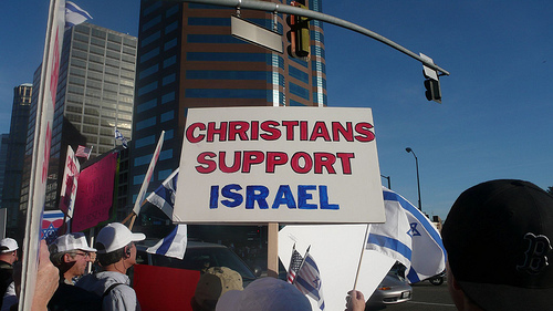 Christian Zionist in Israel filming anti-BDS movie