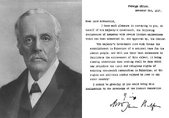 Arabs demand apology for 'crime' of Balfour Declaration