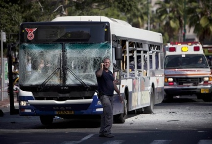 Dozens wounded in Tel Aviv bus bombing