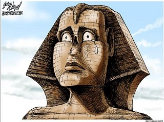 Cartoon: Christian persecution in Egypt