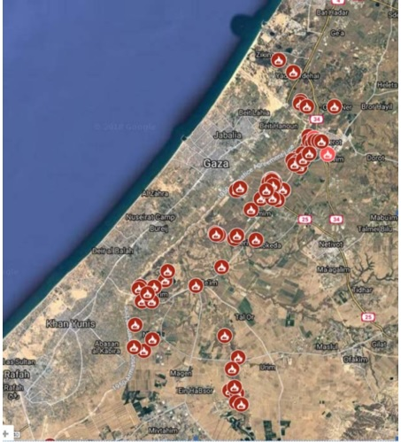 Check Out this Map of Arson Fires in Israel