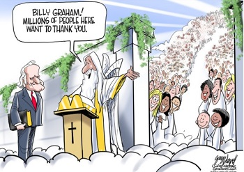 Cartoon: Billy Graham