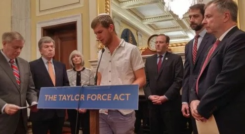 Palestinians slam Congress's passage of Taylor Force Act
