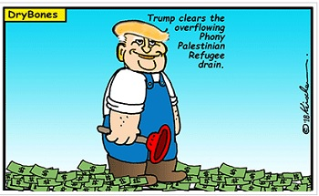 Cartoon: The Phony Palestinian Refugee Drain